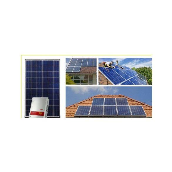 3,75 kWp hálózatra visszatápláló napelemes rendszer